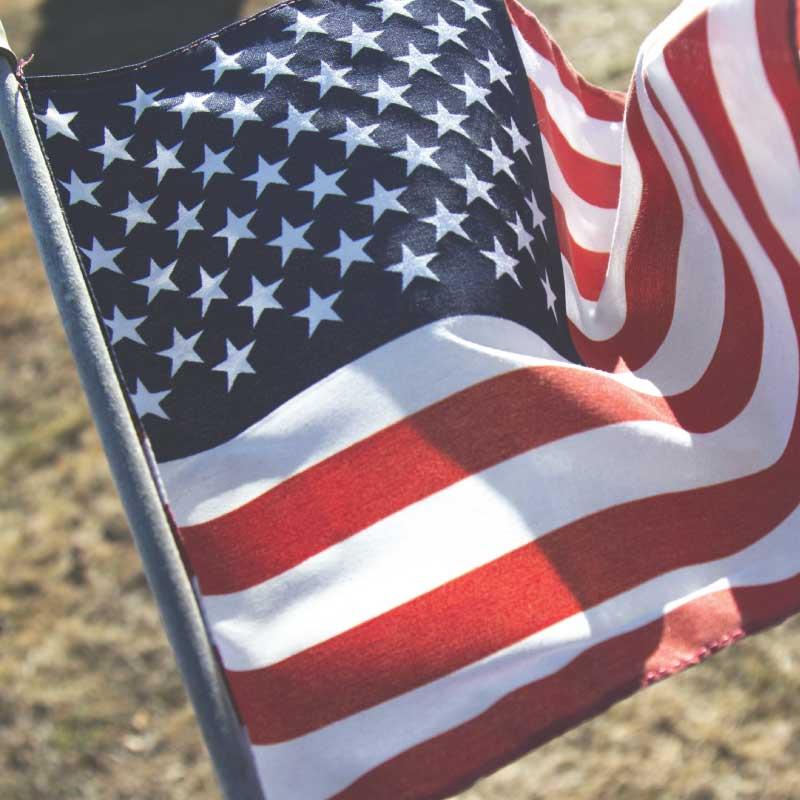 american flag bbq